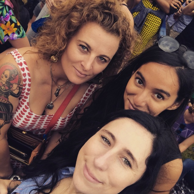 With my cousin and her partner at a music festival in Chicago last summer.